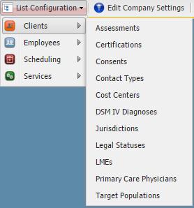 List Configuration: How to Setup Client Menus – OnTarget Help