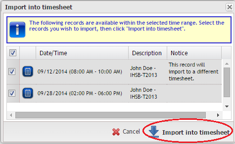 how to create a timesheet ontarget help